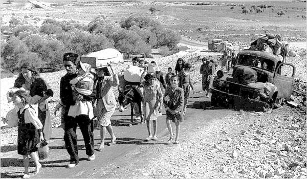 Palestinske izbjeglice napuštaju Galileju, listopad/studeni 1948. (Izvor: Wikipedia)