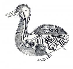 Grafika Vaucansonove mehaničke patke preuzeta je sa stranice versorgerin.stwst.at po cc licenci.