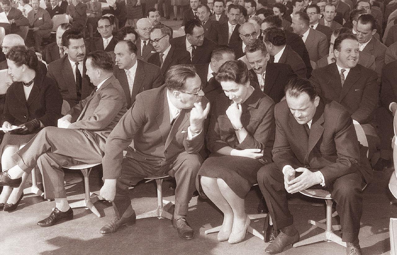 Vida Tomšič na zaključnom plenarnom zasjedanju 5. kongresa SZDL Slovenije, 9. ožujka 1961. (Izvor: commons.wikimedia.org)