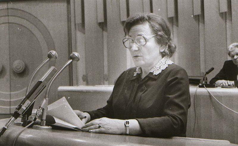 Nevenka Petrić, zagovarateljica planiranog roditeljstva i suradnica Vide Tomšič (Izvor: commons.wikimedia.org)