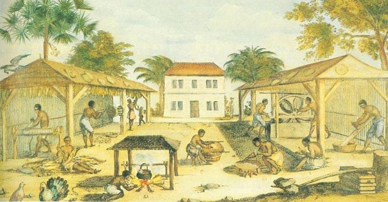 Ropski rad u sedamnaestostoljetnoj Virginiji (izvor: commons.wikimedia.org).