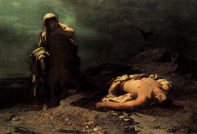 Ulje na platnu Nikiforosa Lytrasa (1832-1904) koje prikazuje Sofoklovu Antigonu ispred mrtvog Polinika, njezina brata.