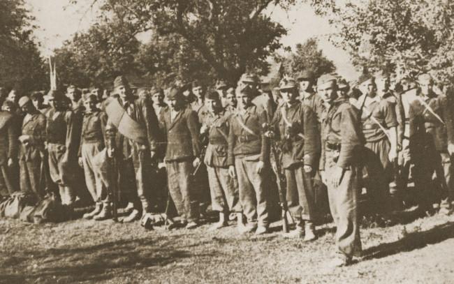 Pridošli bivši domobrani svrstavaju se u jedinice 32. divizije (izvor: izložba Saveza antifašističkih boraca Hrvatske).