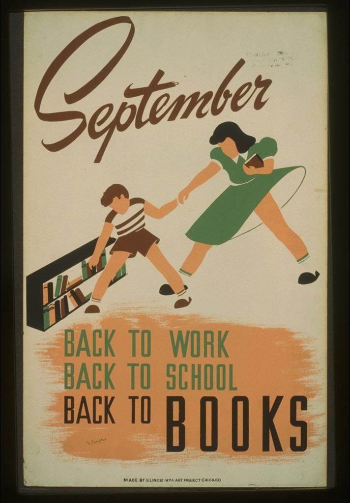 Poster iz SAD-a 1940-ih prigodom početka nove školske godine (izvor: commons.wikimedia.org).