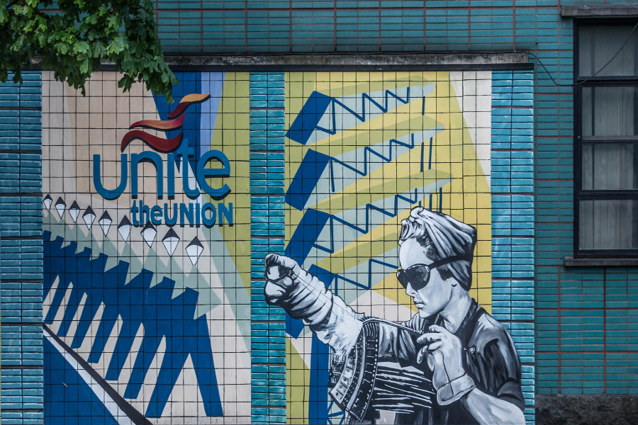 Mural na sindikalnoj zgradi u Belfastu (Izvor:  William Murphy@Flickr)