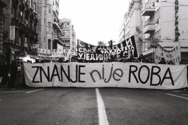 Vasina ulica, Beograd 07.11.2012. Za BESPLATNO OBRAZOVANJE!  (Izvor: Facebook Zahtevamo BESPLATNO OBRAZOVANJE u Srbiji.