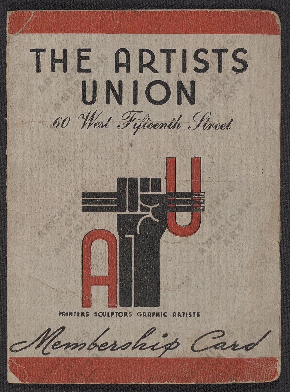 "Prednja strana članske iskaznice američkog sindikata umjetnika iz 1935. godine (izvor: <a href=""http://www.aaa.si.edu/collections/viewer/harry-gottliebs-artists-union-membership-card-11632"" target=""_blank"">Smithsonianov arhiv američke umjetnosti</a> prema <a href=""http://www.si.edu/termsofuse/"" target=""_blank"">Fair Use</a> licenci)."