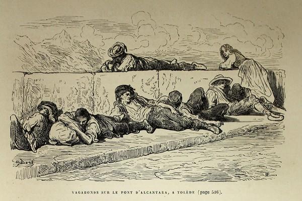 """Gustave Doré, """"Vagabonds sur le pont d'Alcantara, a Tolède"""". (izvor)"""