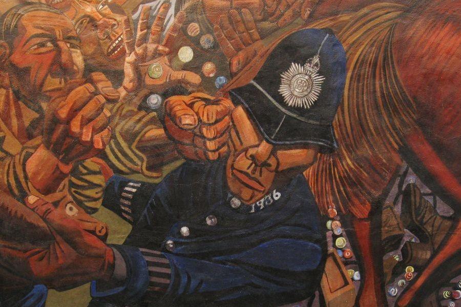 Detalj s murala u Cable Streetu (izvor: Nick prema Creative Commons licenci).