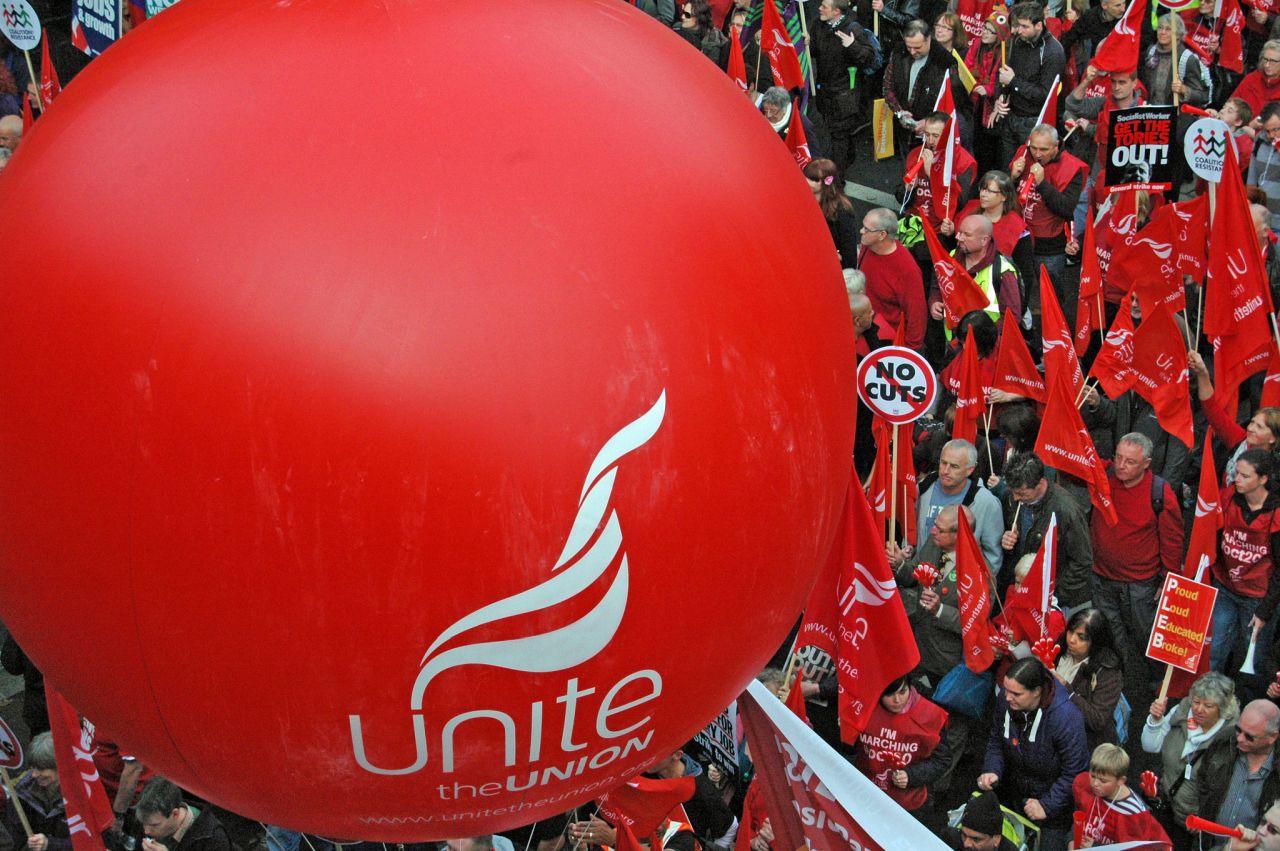 Britanski sindikalni prosvjed protiv mjera štednje (izvor: Dun.can prema Creative Commons licenci).