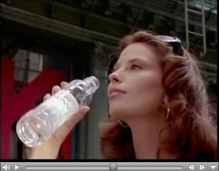 """Reklama za Jana """"Skinny Water"""", prikazana tijekom tribine u sklopu izlaganja Daria Juričana."""