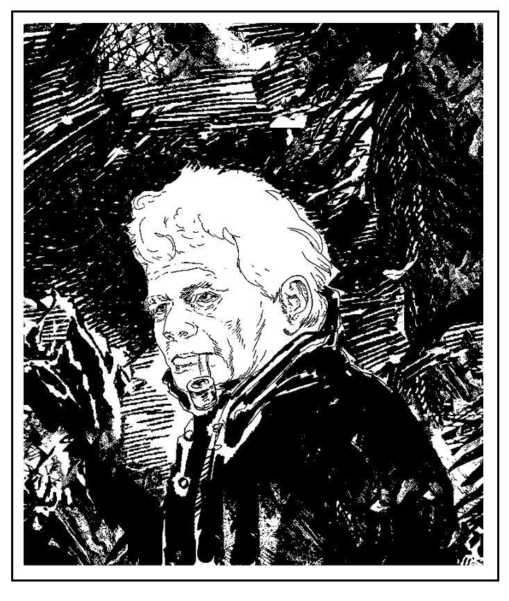 Jacques Derrida, crtež iz 2009. godine (izvor: NCMallory prema Creative Commons licenci).