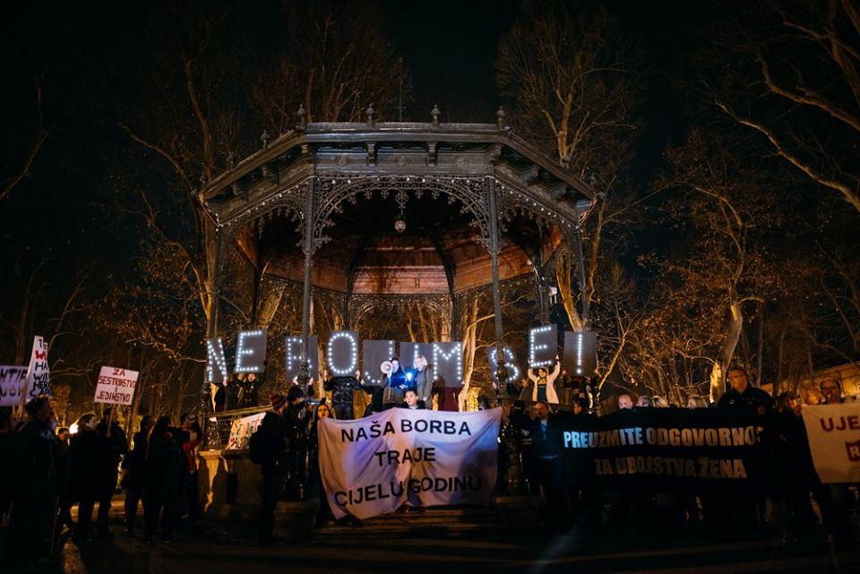 Noćni marš - 8. mart,  2016. godine, Zagreb (Kristina Josić/Libela)