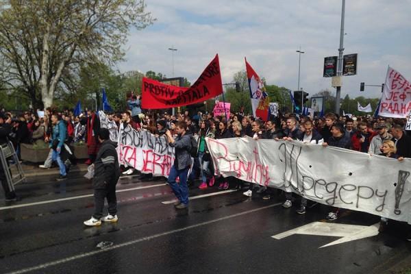 Prosvjedi u Srbiji, travanj 2017. (foto: MS)