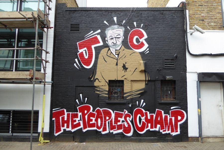 """Narodni junak"", grafit o Jeremyju Corbynu u Camdenu u Londonu (izvor: duncan c prema Creative Commons licenci)."