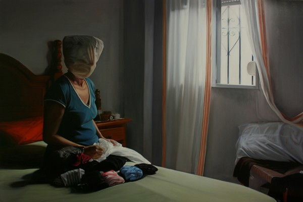 """Manuel Rivero, Ado-Nay, """"Grave impedimento de existencia o desarrollo III"""", ulje na drvu, 2016. (izvor: commons.wikimedia.org, preuzeto i podrezano prema Creative Commons licenci)."""